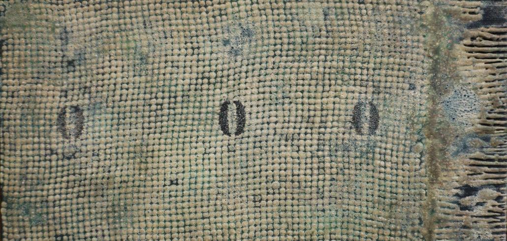Nobuya Abe, Senza titolo, 1961, tecnica mista su tavola, cm 25 x 50 6 / 21
