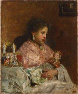 Antonio Mancini, Due bambole, 1878, Olio su tela, 77 x 64 cm