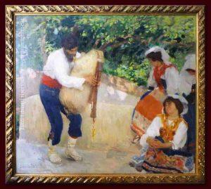 Camillo Innocenti - Canzone Ciociara - Tecnica Olio su Tela, 125 x 142 cm