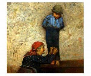 Luigi Nono, Dipinto, olio su tela
