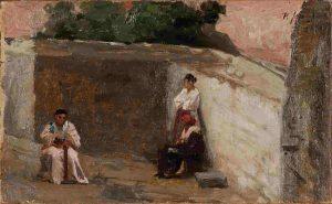 Pio Joris - Figure nel cortile