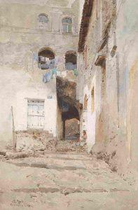 Pio Joris - Häuser in Terracina - 1898