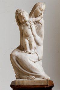 Libero Andreotti Madonna con Bambino Marmo 85.1 x 30.5 x 34.3 cm