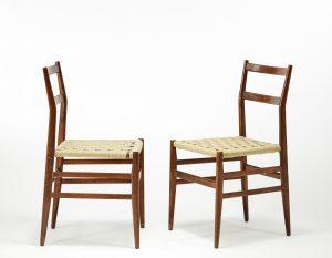 Gio Ponti Leggere 1951 coppia sedie produzione Cassina