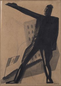 Mario Sironi Studio per illustrazione 1926 Tempera su carta